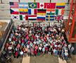 Some of the 500 scientists from 19 countries who are members of the DZero collaboration.