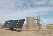 Solar-powered pump station in Wyoming