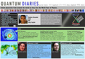 Quantum Diaries screen shot