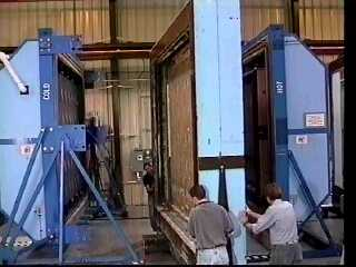 Rolling wall into hot box - ORNL